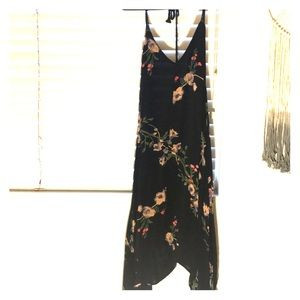 A-line midi halter dress with back that ties